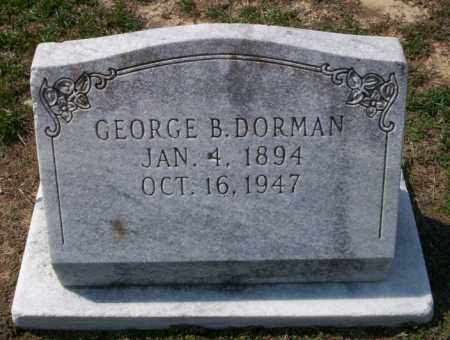 DORMAN, GEORGE B - Columbia County, Arkansas | GEORGE B DORMAN - Arkansas Gravestone Photos