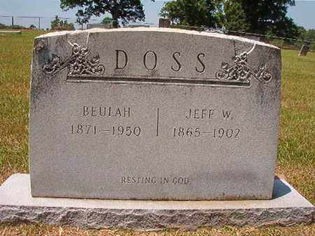 DOSS, JEFF W - Columbia County, Arkansas | JEFF W DOSS - Arkansas Gravestone Photos