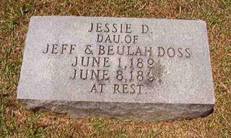 DOSS, JESSIE D - Columbia County, Arkansas | JESSIE D DOSS - Arkansas Gravestone Photos