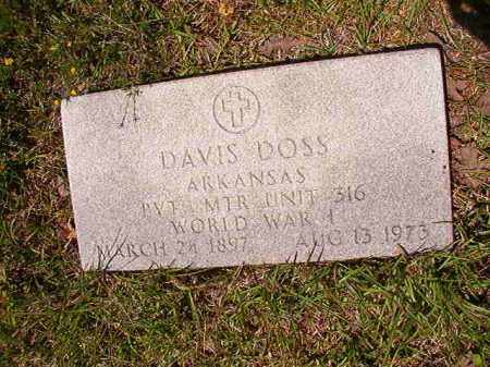DOSS (VETERAN WWI), DAVIS - Columbia County, Arkansas | DAVIS DOSS (VETERAN WWI) - Arkansas Gravestone Photos