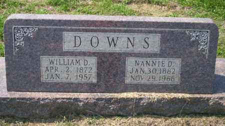 DOWNS, WILLIAM D - Columbia County, Arkansas | WILLIAM D DOWNS - Arkansas Gravestone Photos