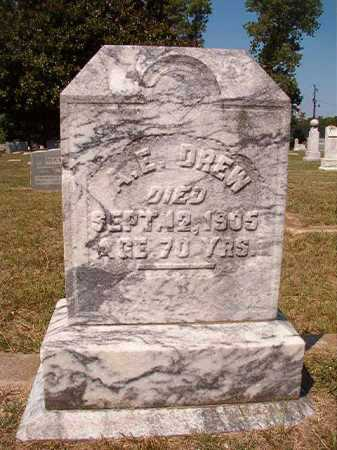 DREW, A E - Columbia County, Arkansas | A E DREW - Arkansas Gravestone Photos