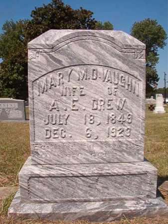VAUGHN DREW, MARY M D - Columbia County, Arkansas | MARY M D VAUGHN DREW - Arkansas Gravestone Photos