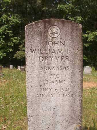 DRYVER (VETERAN), JOHN WILLIAM F D - Columbia County, Arkansas | JOHN WILLIAM F D DRYVER (VETERAN) - Arkansas Gravestone Photos