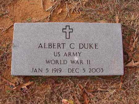 DUKE (VETERAN WWII), ALBERT C - Columbia County, Arkansas | ALBERT C DUKE (VETERAN WWII) - Arkansas Gravestone Photos