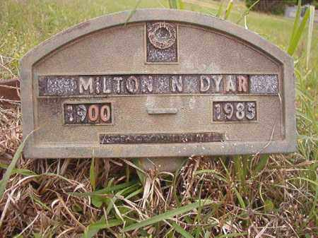 DYAR, MILTON N - Columbia County, Arkansas | MILTON N DYAR - Arkansas Gravestone Photos