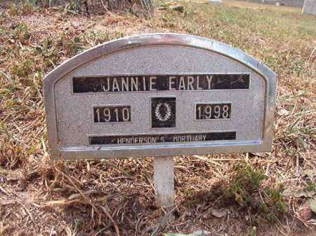 EARLY, JANNIE - Columbia County, Arkansas | JANNIE EARLY - Arkansas Gravestone Photos