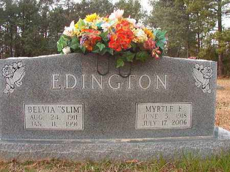 EDINGTON, MYRTLE F - Columbia County, Arkansas | MYRTLE F EDINGTON - Arkansas Gravestone Photos