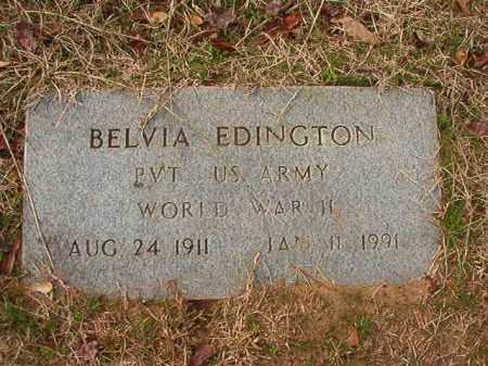 EDINGTON (VETERAN WWII), BELVIA - Columbia County, Arkansas | BELVIA EDINGTON (VETERAN WWII) - Arkansas Gravestone Photos