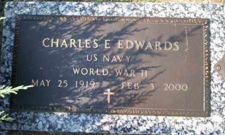 EDWARDS  (VETERAN WWII), CHARLES E - Columbia County, Arkansas | CHARLES E EDWARDS  (VETERAN WWII) - Arkansas Gravestone Photos