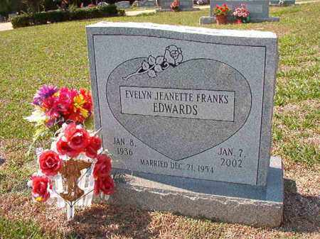 FRANKS EDWARDS, EVELYN JEANETTE - Columbia County, Arkansas | EVELYN JEANETTE FRANKS EDWARDS - Arkansas Gravestone Photos