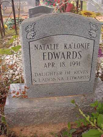 EDWARDS, NATALIE KA'LONIE - Columbia County, Arkansas | NATALIE KA'LONIE EDWARDS - Arkansas Gravestone Photos