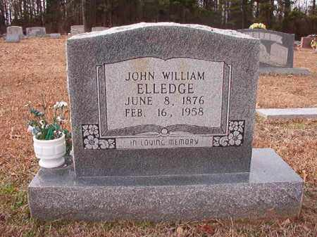 ELLEDGE, JOHN WILLIAM - Columbia County, Arkansas | JOHN WILLIAM ELLEDGE - Arkansas Gravestone Photos