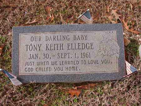 ELLEDGE, TONY KEITH - Columbia County, Arkansas | TONY KEITH ELLEDGE - Arkansas Gravestone Photos