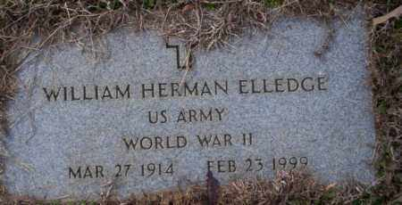 ELLEDGE (VETERAN WWII), WILLIAM HERMAN - Columbia County, Arkansas | WILLIAM HERMAN ELLEDGE (VETERAN WWII) - Arkansas Gravestone Photos
