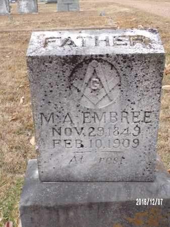 EMBREE, M A - Columbia County, Arkansas | M A EMBREE - Arkansas Gravestone Photos