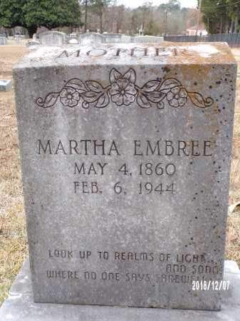 EMBREE, MARTHA - Columbia County, Arkansas | MARTHA EMBREE - Arkansas Gravestone Photos
