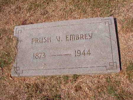 EMBREY, PRUSH V - Columbia County, Arkansas | PRUSH V EMBREY - Arkansas Gravestone Photos