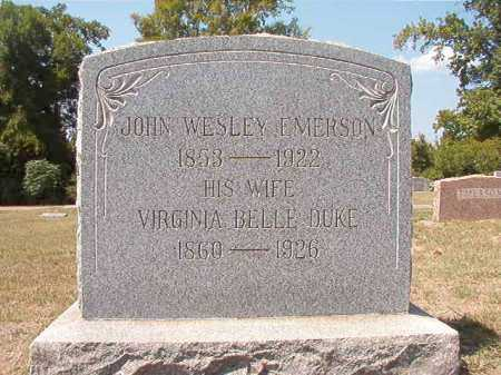EMERSON, JOHN WESLEY - Columbia County, Arkansas | JOHN WESLEY EMERSON - Arkansas Gravestone Photos