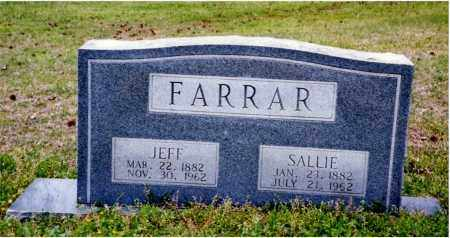 FARRAR, SALLIE - Columbia County, Arkansas | SALLIE FARRAR - Arkansas Gravestone Photos