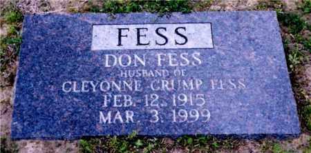 FESS, DON - Columbia County, Arkansas | DON FESS - Arkansas Gravestone Photos