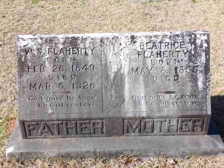 FLAHERTY, W S - Columbia County, Arkansas | W S FLAHERTY - Arkansas Gravestone Photos