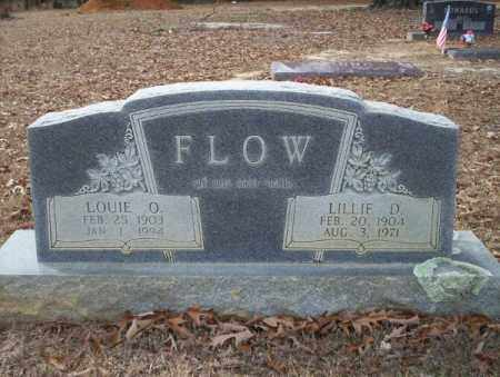 FLOW, LOUIE O - Columbia County, Arkansas | LOUIE O FLOW - Arkansas Gravestone Photos