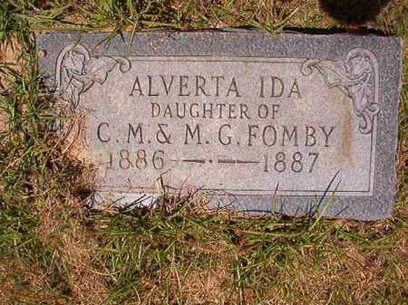 FOMBY, ALVERTA IDA - Columbia County, Arkansas | ALVERTA IDA FOMBY - Arkansas Gravestone Photos