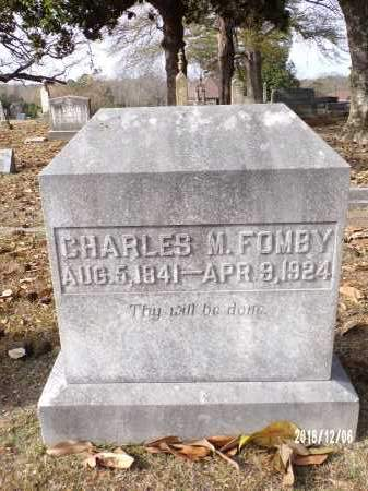 FOMBY, CHARLES M - Columbia County, Arkansas | CHARLES M FOMBY - Arkansas Gravestone Photos