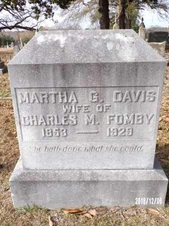 FOMBY, MARTHA G. - Columbia County, Arkansas | MARTHA G. FOMBY - Arkansas Gravestone Photos