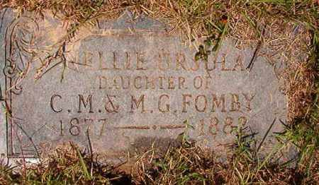 FOMBY, NELLIE URSULA - Columbia County, Arkansas | NELLIE URSULA FOMBY - Arkansas Gravestone Photos