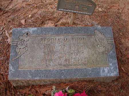 FORD, BERDIA M - Columbia County, Arkansas | BERDIA M FORD - Arkansas Gravestone Photos
