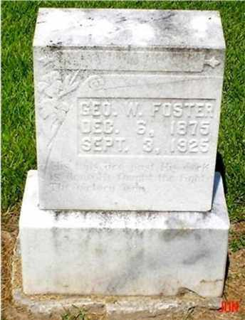 FOSTER, GEORGE W. - Columbia County, Arkansas | GEORGE W. FOSTER - Arkansas Gravestone Photos