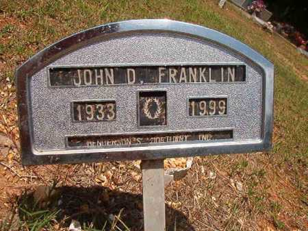 FRANKLIN, JOHN D - Columbia County, Arkansas | JOHN D FRANKLIN - Arkansas Gravestone Photos