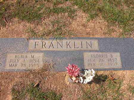 FRANKLIN, RUBLE M - Columbia County, Arkansas | RUBLE M FRANKLIN - Arkansas Gravestone Photos
