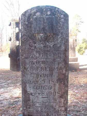 FREEMAN, M A - Columbia County, Arkansas | M A FREEMAN - Arkansas Gravestone Photos