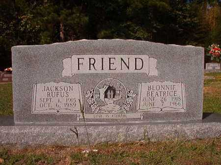FRIEND, BLONNIE BEATRICE - Columbia County, Arkansas | BLONNIE BEATRICE FRIEND - Arkansas Gravestone Photos