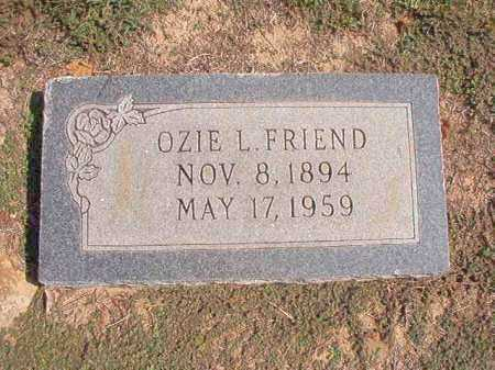 FRIEND, OZIE L - Columbia County, Arkansas | OZIE L FRIEND - Arkansas Gravestone Photos
