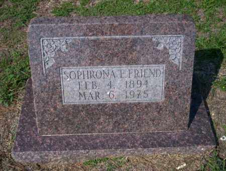 FRIEND, SOPHRONA F - Columbia County, Arkansas | SOPHRONA F FRIEND - Arkansas Gravestone Photos