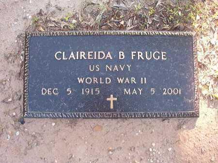 FRUGE (VETERAN WWII), CLAIREIDA B - Columbia County, Arkansas | CLAIREIDA B FRUGE (VETERAN WWII) - Arkansas Gravestone Photos