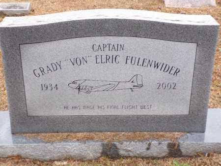 "FULENWIDER, CAPTAIN, GRADY ""VON"" ELRIC - Columbia County, Arkansas | GRADY ""VON"" ELRIC FULENWIDER, CAPTAIN - Arkansas Gravestone Photos"