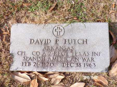 FUTCH (VETERAN SAW), DAVID P - Columbia County, Arkansas   DAVID P FUTCH (VETERAN SAW) - Arkansas Gravestone Photos