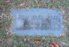 GANTT, JULIE GOODE - Columbia County, Arkansas | JULIE GOODE GANTT - Arkansas Gravestone Photos