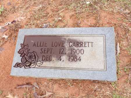 LOVE GARRETT, ALLIE - Columbia County, Arkansas | ALLIE LOVE GARRETT - Arkansas Gravestone Photos