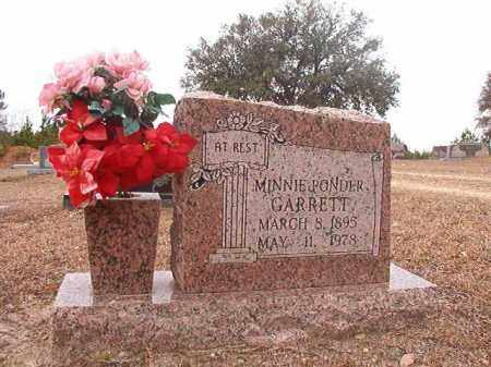 PONDER GARRETT, MINNIE - Columbia County, Arkansas | MINNIE PONDER GARRETT - Arkansas Gravestone Photos