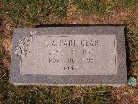 GEAN, J A PAUL - Columbia County, Arkansas | J A PAUL GEAN - Arkansas Gravestone Photos