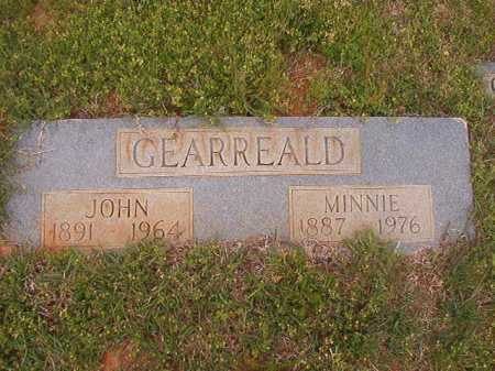 GEARREALD, MINNIE - Columbia County, Arkansas | MINNIE GEARREALD - Arkansas Gravestone Photos