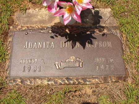 DUNN GIPSON, JUANITA - Columbia County, Arkansas | JUANITA DUNN GIPSON - Arkansas Gravestone Photos