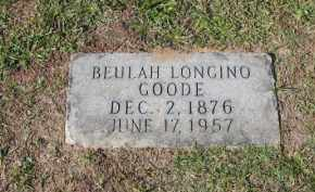 LONGINO GOODE, BEULAH - Columbia County, Arkansas | BEULAH LONGINO GOODE - Arkansas Gravestone Photos