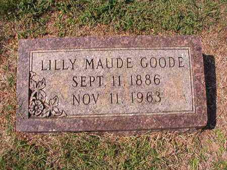 GOODE, LILLY MAUDE - Columbia County, Arkansas | LILLY MAUDE GOODE - Arkansas Gravestone Photos